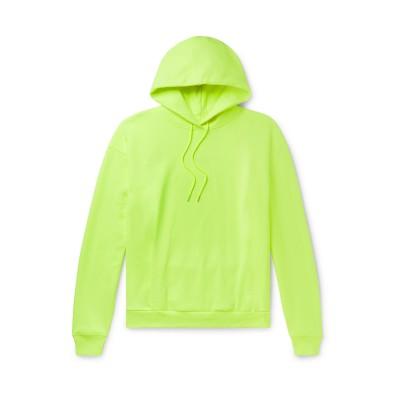 MARTINE ROSE スウェットシャツ ビタミングリーン S コットン 100% スウェットシャツ