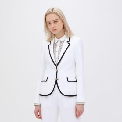 ホワイト パイピングジャケット