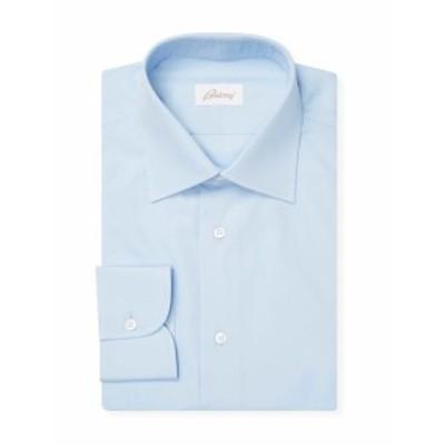 ブリオーニ Men Clothing Solid Dress Shirt