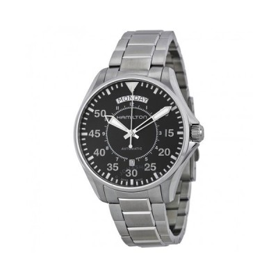 Hamilton/ハミルトン メンズ 腕時計 Pilot 日 日付 自動巻き Black Dial メンズ Watch H64615135