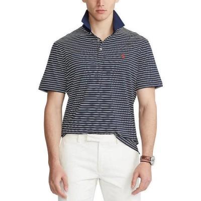 ラルフローレン メンズ シャツ トップス Classic-Fit Airflow Jersey Performance Stretch Short-Sleeve Recycled Materials Polo Shirt French Navy/Pure White