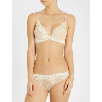 ワコール WACOAL レディース ブラジャーのみ インナー・下着 Embrace Lace stretch-lace plunge underwired bra NUDE IVORY