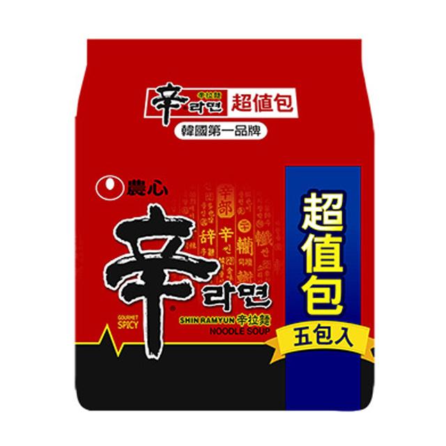 農心 辛拉麵5入(超值包)600g