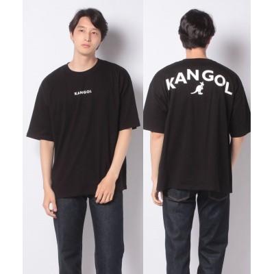 (WEGO/ウィゴー)∴WEGO/KANGOL バックプリントTシャツ/ユニセックス ブラック