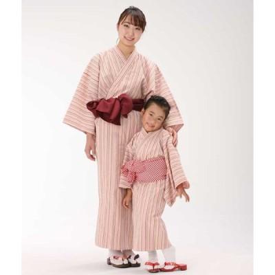 浴衣セット 受注後生産 大人浴衣と帯のセット 日本製 遠州綿紬 (はなもも)旅館浴衣 業務用