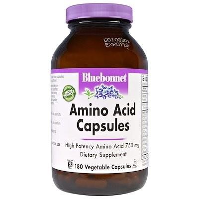 Amino Acid Capsules, 750 mg, 180 Vegetable Capsules