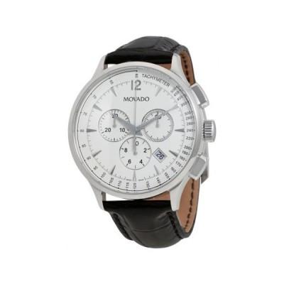 腕時計 モバード Movado Circa クロノグラフ ホワイト ダイヤル メンズ 腕時計 0606575