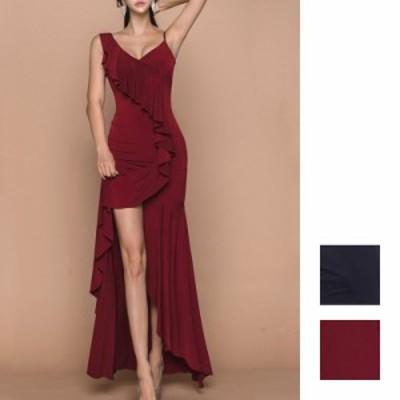 韓国 ファッション レディース ワンピース パーティードレス ロング マキシ 夏 春 秋 パーティー ブライダル naloH520 結婚式 お呼ばれド