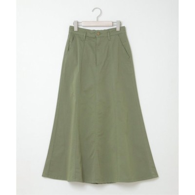 ストレッチツイル裾ひらりスカート