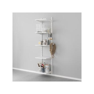 IKEA/イケア ALGOT 壁用支柱/棚板/フック, メタル ホワイト (890.942.22)