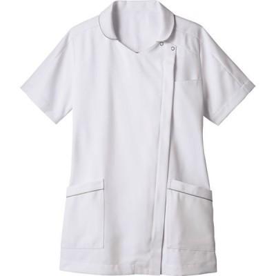 住商モンブラン住商モンブラン ナースジャケット 半袖 白×グレー 5L 73-2110(直送品)