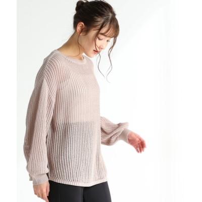 Honeys / メッシュ編プルオーバー WOMEN トップス > ニット/セーター