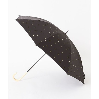 collex/コレックス 【今年も登場!】晴雨兼用 日傘 ドット柄 長傘 ブラック F