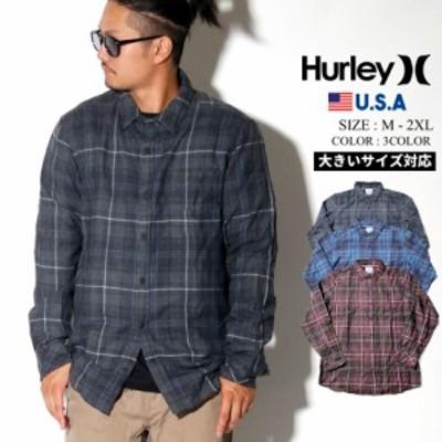 Hurley ハーレー カジュアルシャツ メンズ 長袖 チェック柄 BV1568