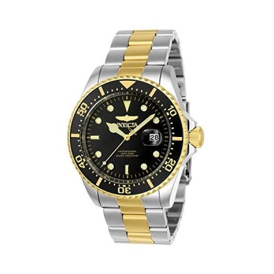 Invicta Men's 'Pro Diver' Quartz Stainless Steel Diving Watch, Color:Two To
