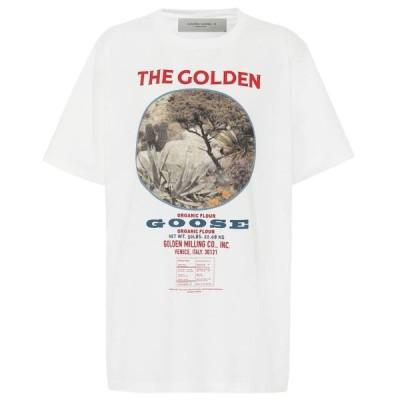 ゴールデン グース Golden Goose レディース Tシャツ トップス Printed cotton T-shirt White/Potato Bag