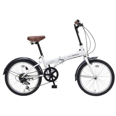 M-200W 折畳自転車20・6SP ホワイト My Pallas(マイパラス) 池商 メーカー直送品