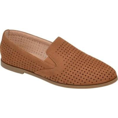 ジュルネ コレクション Journee Collection レディース スリッポン・フラット シューズ・靴 Comfort Foam(TM) Lucie Flat Brown