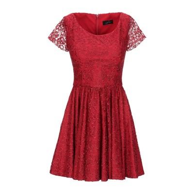 SOANI ミニワンピース&ドレス レッド 40 ポリエステル 100% ミニワンピース&ドレス