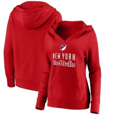 ファナティクス ブランデッド レディース パーカー・スウェット アウター New York Red Bulls Fanatics Branded Women's Shielded Logo Pullover Hoodie
