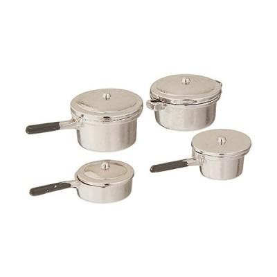 Miniature 8 Pc Silver Stovetop Cookware Set