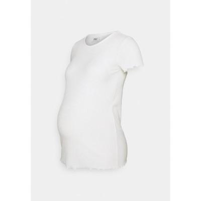 オンリー Tシャツ レディース トップス OLMEMMA - Basic T-shirt - cloud dancer