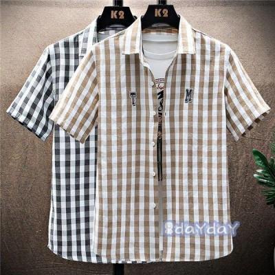紳士服 サマー かっこいい 通勤 吸汗速乾 メンズ 半袖シャツ 夏服 シャツ トップス カジュアルシャツ