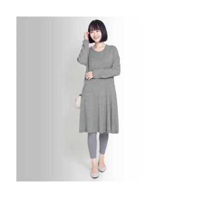 MARTHA(マーサ) 日本製ホールガーメントウール混ワンピース (ワンピース)Dress