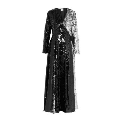 WE ARE LEONE ロングワンピース&ドレス ブラック XS/S ポリエステル 100% ロングワンピース&ドレス