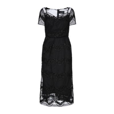 シモーネ・ロシャ SIMONE ROCHA 7分丈ワンピース・ドレス ブラック 8 ナイロン 100% 7分丈ワンピース・ドレス