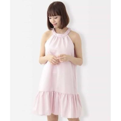 TARA JARMON/タラジャーモン グログランティアードドレス ピンク 38