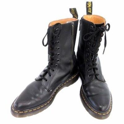 【中古】ドクターマーチン DR.MARTENS 10ホール ブーツ アリックス ALIX レザー  16019001 黒 UK6  /☆G レディース