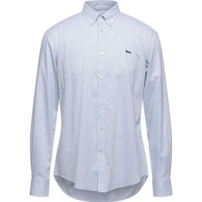 ハーモント アンド ブレイン HARMONT&BLAINE メンズ シャツ トップス Patterned Shirt Sky blue