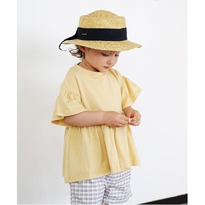 FITH ONLINE STORE / 天竺 切り替えギャザーTシャツ KIDS トップス > Tシャツ/カットソー