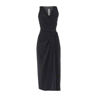 リック オウエンス RICK OWENS 7分丈ワンピース・ドレス ブラック 40 シルク 100% 7分丈ワンピース・ドレス