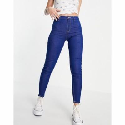 トップショップ Topshop レディース ジーンズ・デニム ボトムス・パンツ joni jeans in bright blue ブルー