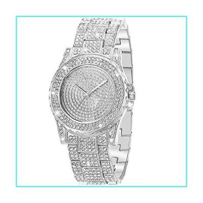【新品】ManChDa Luxury Ladies Watch Iced Out Watch with Quartz Movement Crystal Rhinestone Diamond Watches for Women Stainless Steel Wristwatch Fu