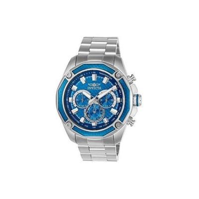 インヴィクタ 腕時計 Invicta メンズ Aviator スチール ブレスレット & ケース クォーツ ブルー ダイヤル アナログ 腕時計 22804
