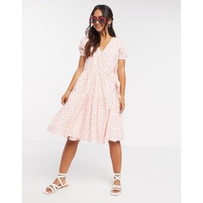 デイジーストリート レディース ワンピース トップス Daisy Street midi wrap dress with tiered skirt in pretty floral