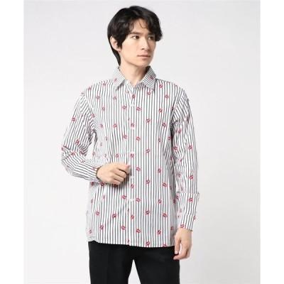 シャツ ブラウス 【K・U・I】ストライプリップシャツ