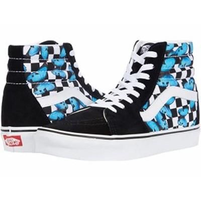 (取寄)バンズ SK8 ハイ Vans SK8-Hi (Butterfly Checkerboard) True White