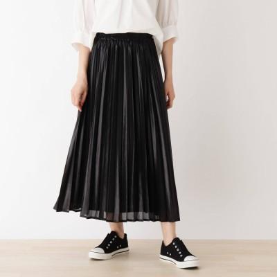 キューティーブロンド Cutie Blonde 【S-LL】カレンダーシフォンプリーツスカート (ブラック)