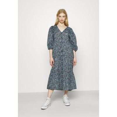 コットンオン レディース ワンピース トップス KAIA BUTTON THROUGH DRESS - Maxi dress - black/dusk blue black/dusk blue