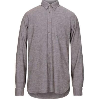 ザカス XACUS メンズ シャツ トップス striped shirt Brown