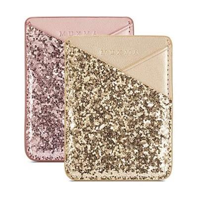 携帯電話財布 クレジットカードホルダー 携帯電話の後ろポケット用 3M粘着ステッカーカードポーチスリ