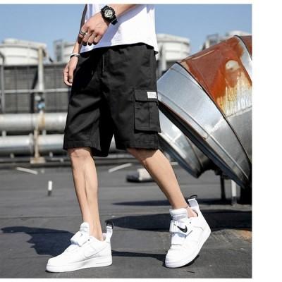 2021夏の新モデルのカジュアル半ズボンメンズ韓国版ゆったりとした五分丈ズボンメンズファッション ズボン 砂浜中ズボン