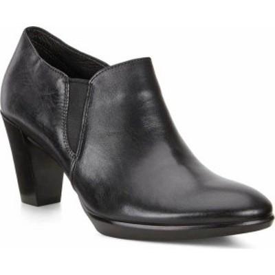 エコー レディース ブーツ・レインブーツ シューズ Shape 55 Plateau Stack Shootie Black/Black Calf Leather