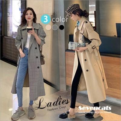トレンチコート レディース アウター コート 冬服 ミドルレングス 韓国風 ゆったり ファッション おしゃれ 送料無料
