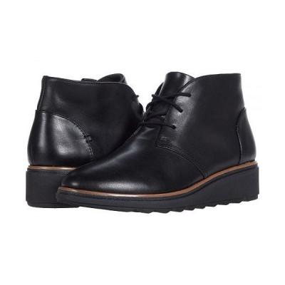 Clarks クラークス レディース 女性用 シューズ 靴 ブーツ アンクル ショートブーツ Sharon Hop - Black Leather