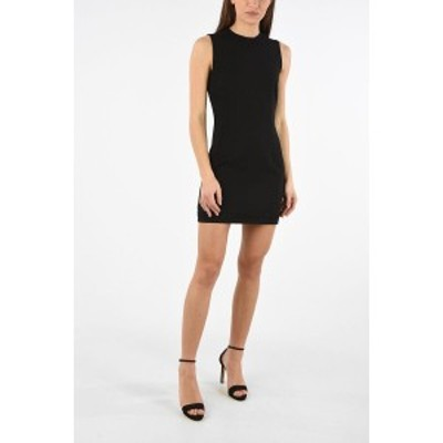 DSQUARED2/ディースクエアード Black レディース Rhinestone Embellished Mini Bodycon Dress with Back Zip Clos dk